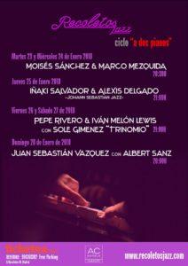 """Ciclo """"A dos pianos"""" en Recoletos Jazz Club"""