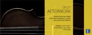 """Ciclo """"Afterwork"""" en la Escuela Superior de Música Reina Sofía"""