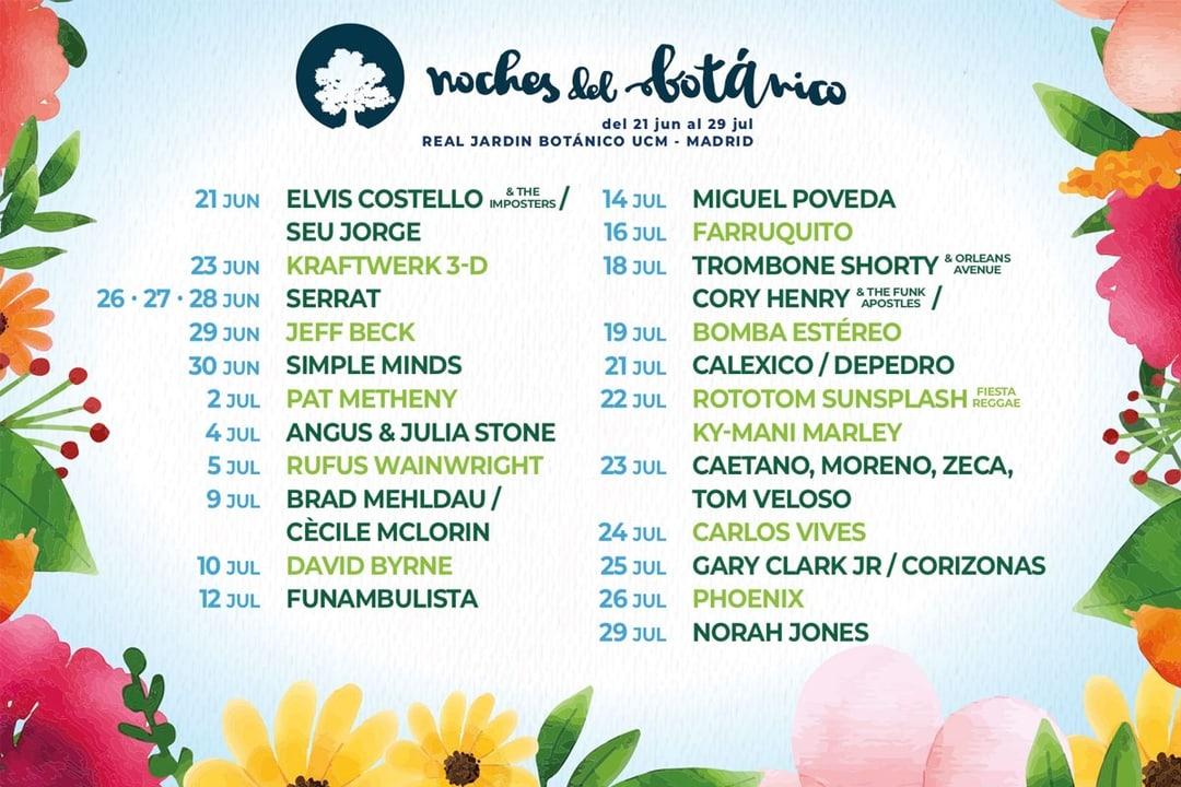 Cartel Noches del Botánico