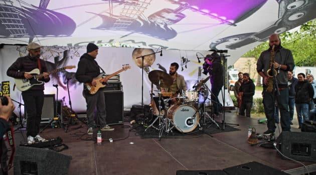Encuentros en Jazz Moers Festival II: Marcelo Cabral, Tiago França y Rodrigo Casula.
