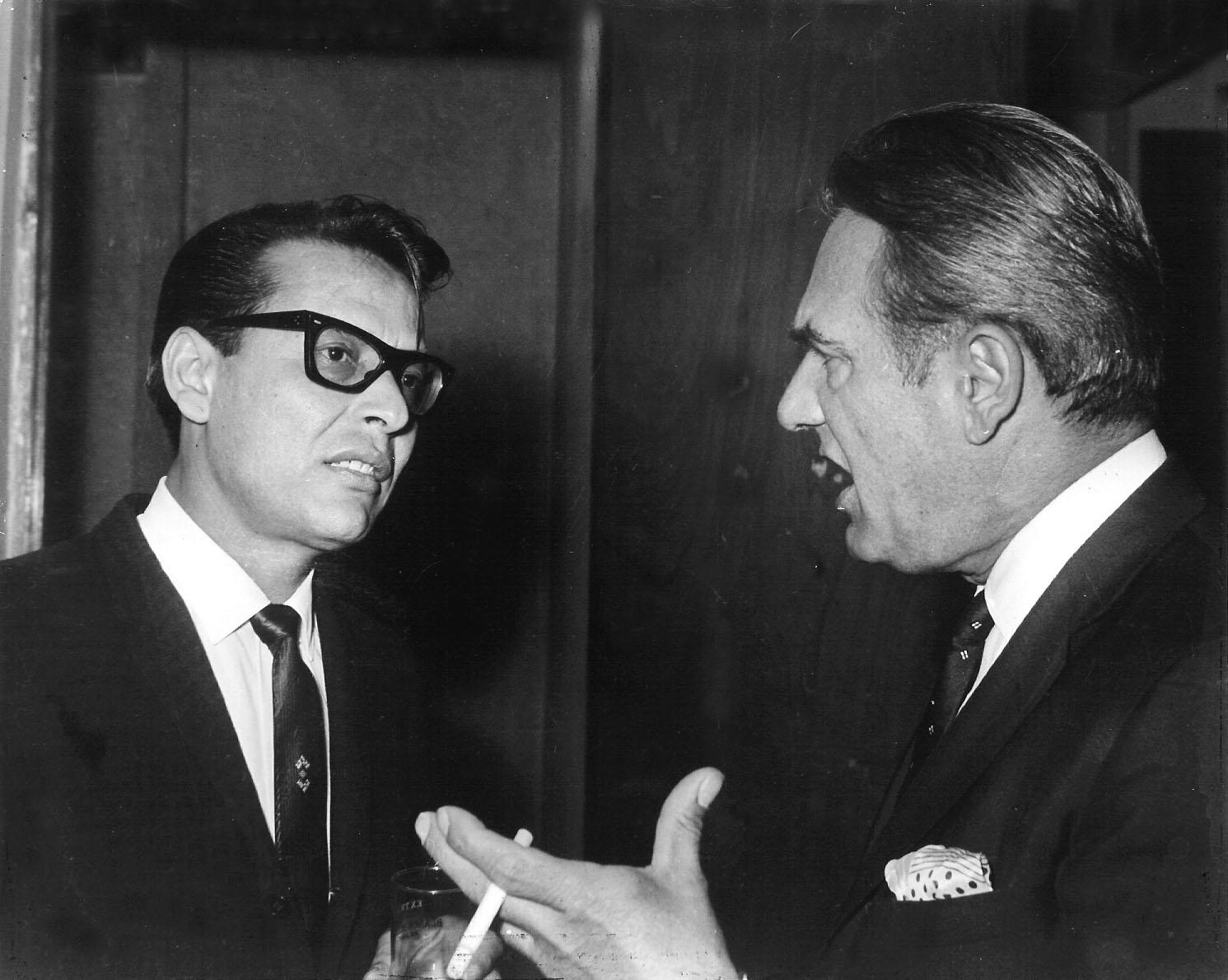 Tino Contreras y Gene Krupa (New York, años 60)
