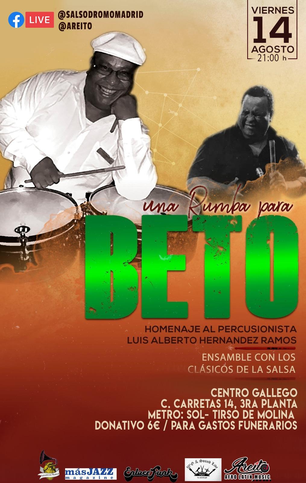 Una Rumba para Beto @ Centro Gallego